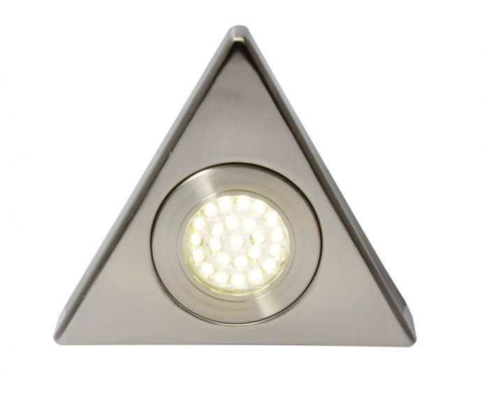 Culina Fonte Led Mains Voltage Triangular Cabinet Light 3000K Warm White