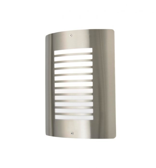 Zink Slatted Wall Light Stainless Steel