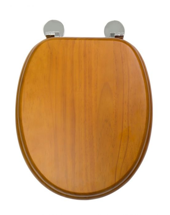 Croydex Flexi-Fix Toilet Seat Davos Antique Pine