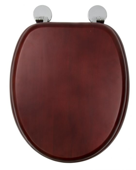 Croydex Flexi-Fix Toilet Seat Davos Mahogany