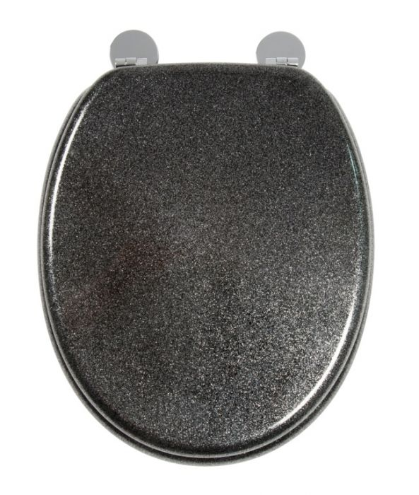 Croydex Flexi-Fix Toilet Seat Quartz Black