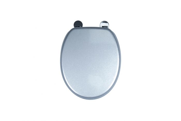 Croydex Flexi-Fix Toilet Seat Quartz Silver