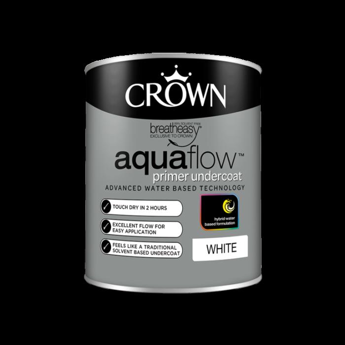 Crown Aquaflow Undercoat 750ml White