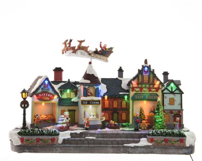 Led Winter Street Scene