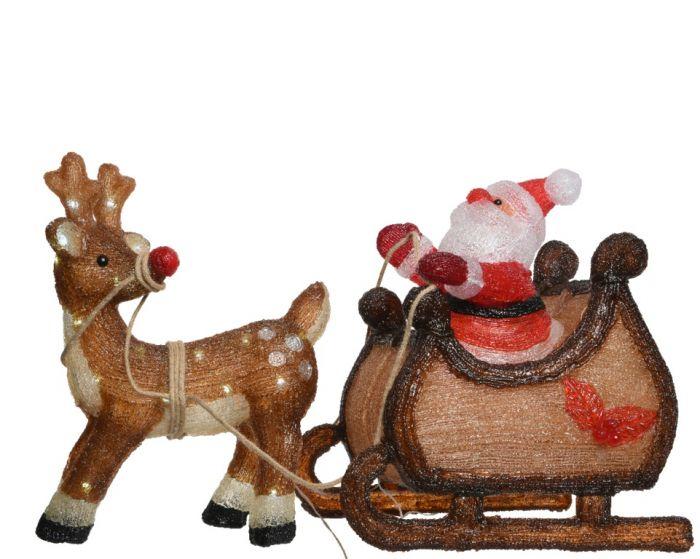 Led Acrylic Santa With Sled