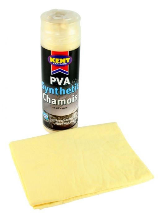Kent Car Care Pva Synthetic Chamois In Canister Large
