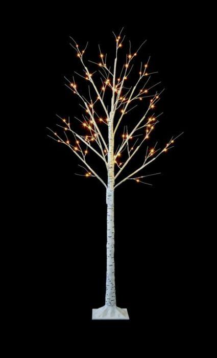 48 Led Birch Tree
