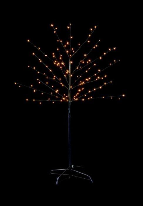 150 Led Black Birch Tree