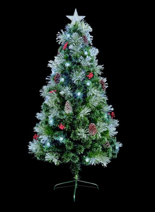 Snow Tipped Tree With White Led