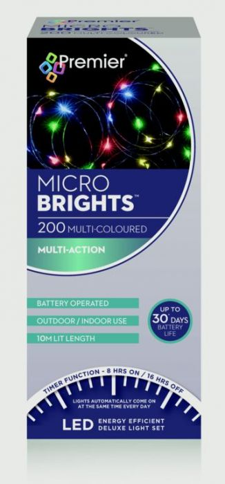 Battery Operated Multi Action Microbrights With Timer
