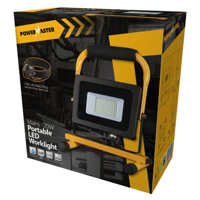 Powermaster Led Portable Worklight Ip65 20W 6500K