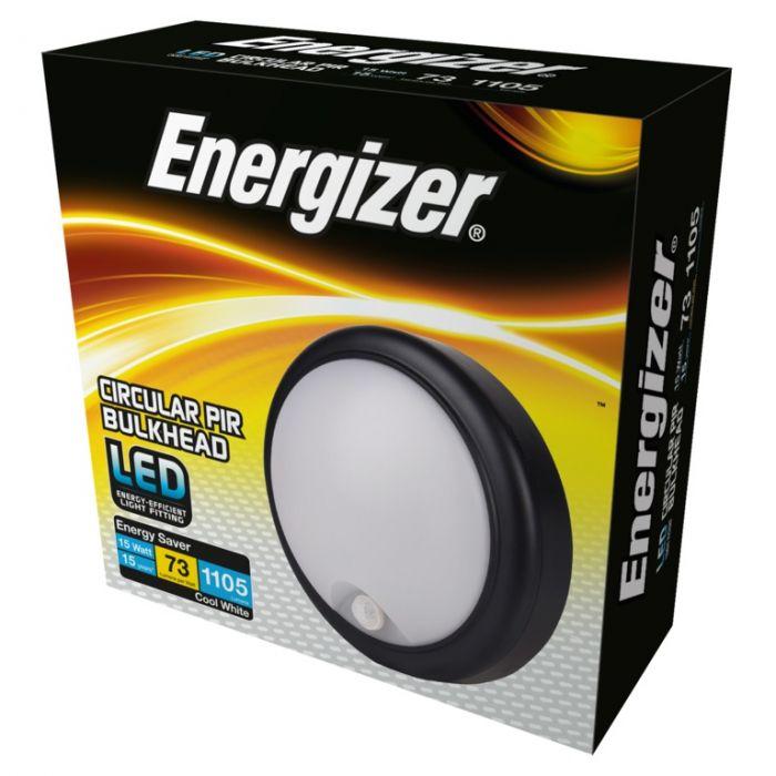 Energizer Led Pir Round Bulkhead Ip54 15W 4000K
