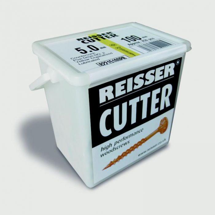 Reisser Cutter High Performance Woodscrew 5.0X50mm 600 Piece Tub