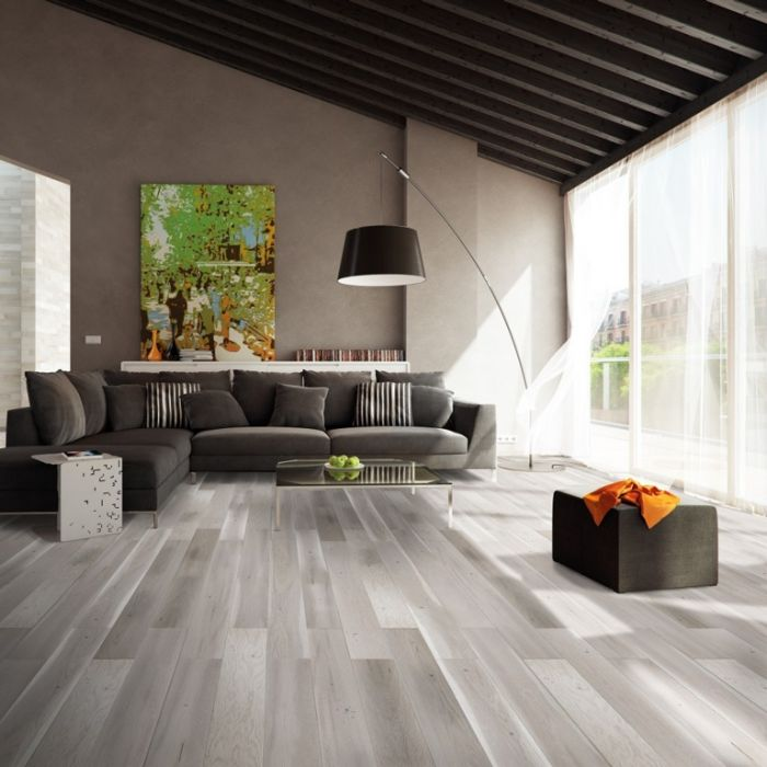 Basix Matt Engineered Floor 14Mm Silver Grey 0.99M2