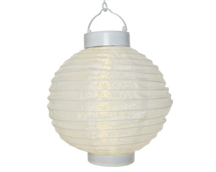 Lumineo Led Solar Round Lantern White