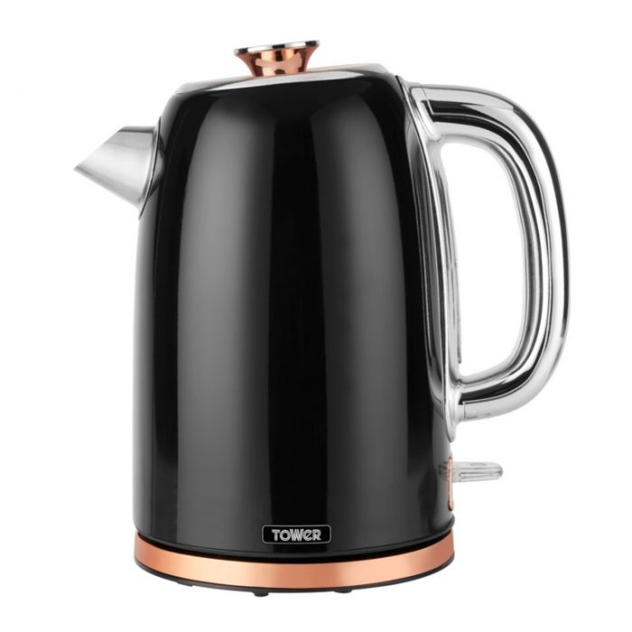 Tower 1.7L Stainless Steel Kettle Black & Rose Gold