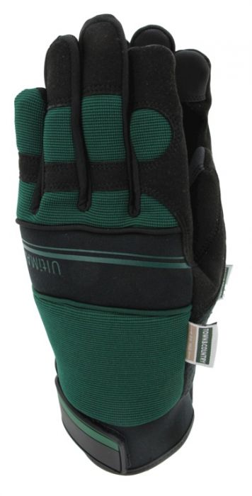 Town & Country Deluxe Ultimax Green Mens Gloves Medium