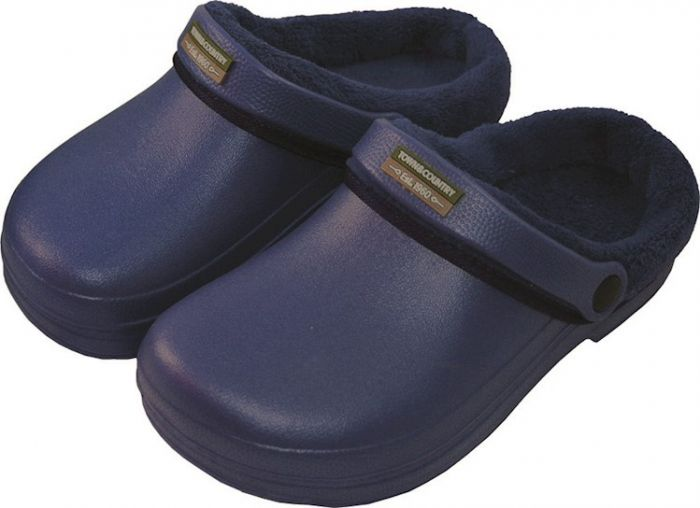 Town & Country Fleecy Cloggies Navy Size 4