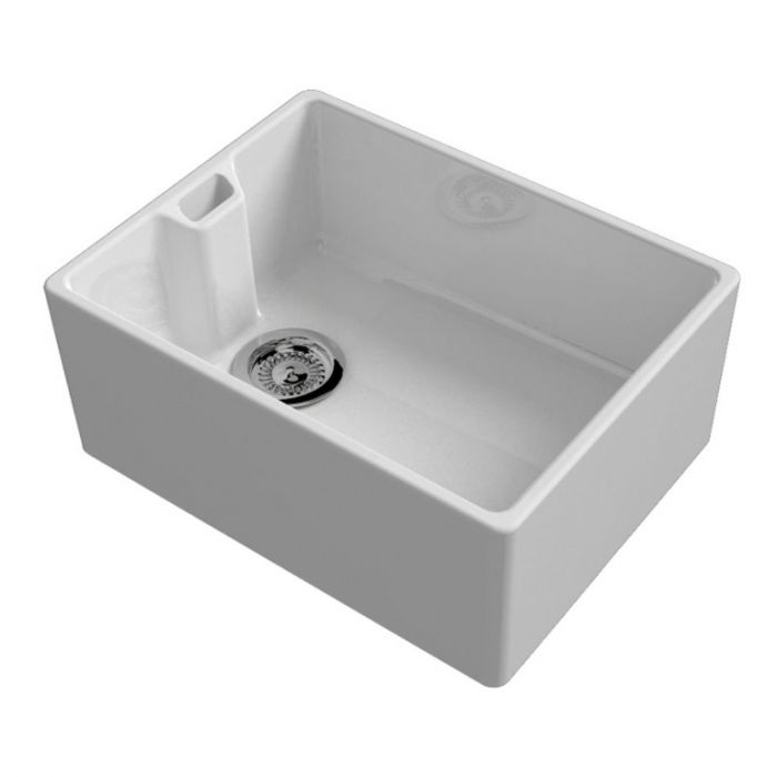 Reginox Belfast White Ceramic Sink Inc Waste 595 X 460Mm