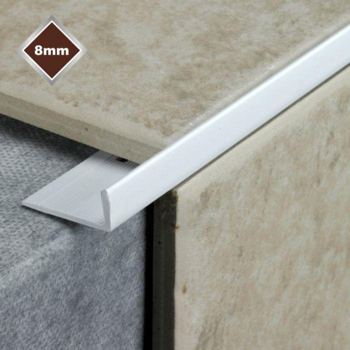 Tile Rite 8mm L Profile PVC Tile Trim White