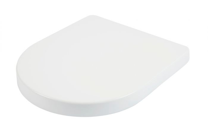 Croydex Eyre D-Shaped White Seat