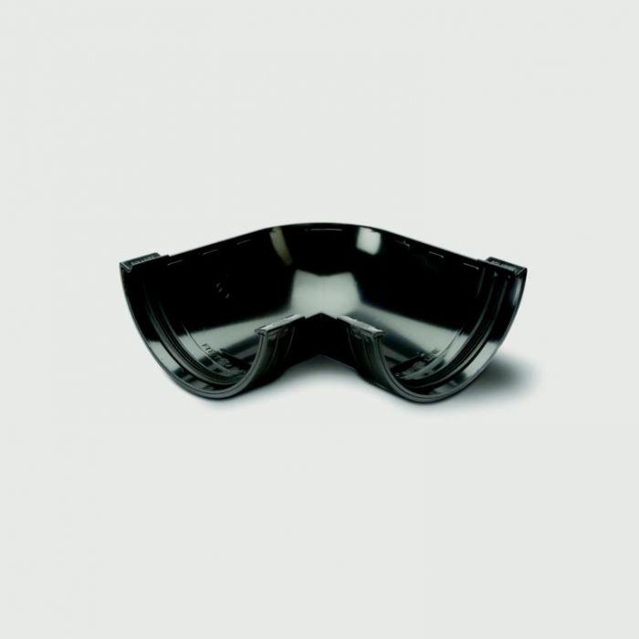 Polypipe Mini HR Gutter 90 Deg Angle 75mm Black