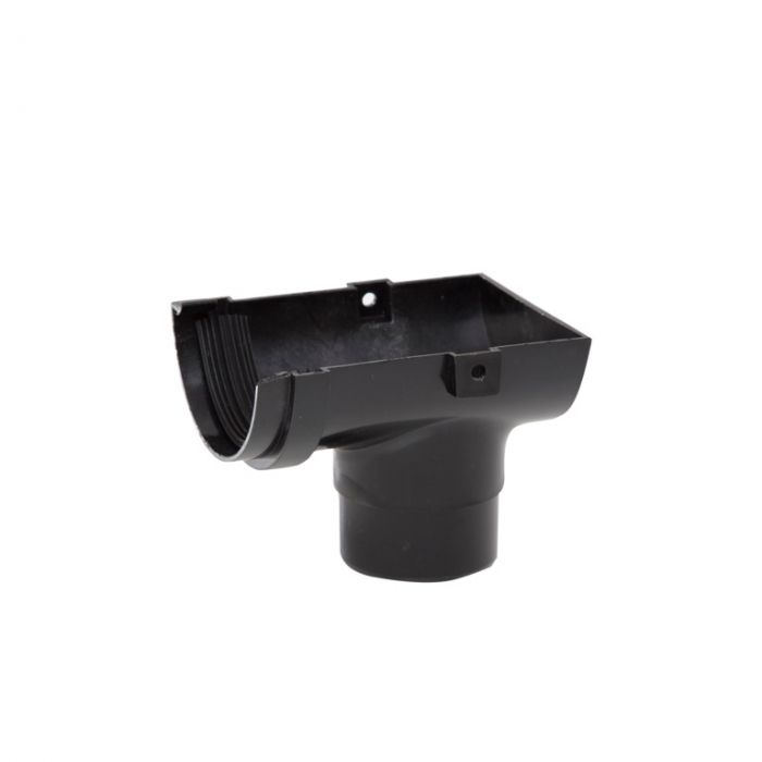 Polypipe Mini H/R Gutter Stop End 75mm Black