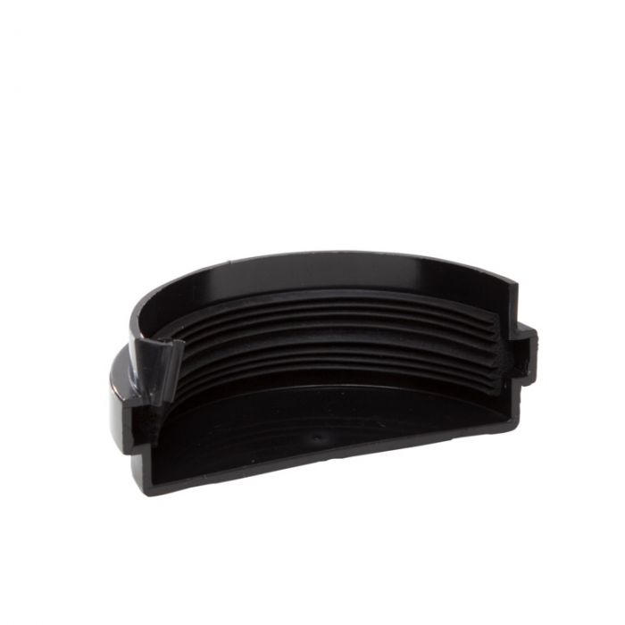 Polypipe Mini H/R Gutter Stop End EXT 75mm Black