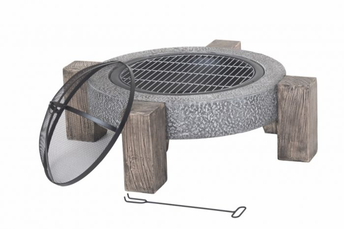 Lifestyle Calida Fire Pit *MGO Round fire pit with legs