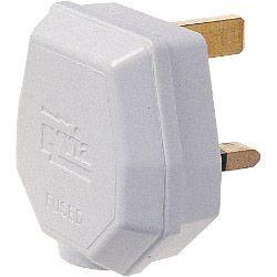 Dencon 13A 3 Pin Nylon Plug Fused 13A to BS1363/A White