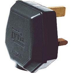 Dencon 13A 3 Pin Nylon Plug Fused 13A to BS1363/A Black