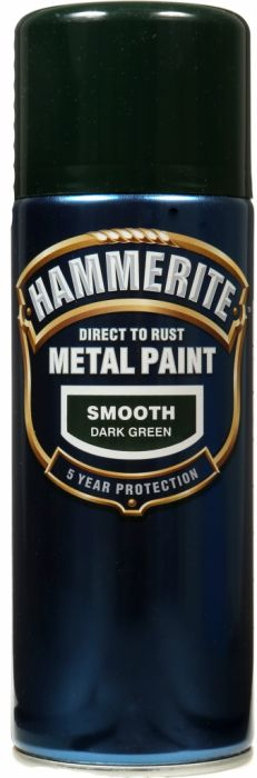 Hammerite Metal Paint 400ml Aerosol Smooth Dark Green