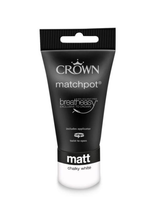 Crown Matt Emulsion 40ml Chalky White