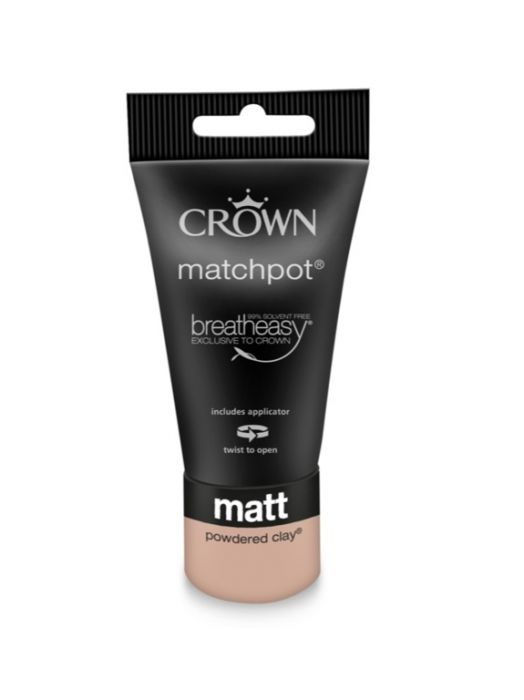 Crown Matt Emulsion 40ml Powdered Clay