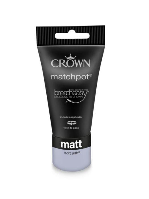 Crown Matt Emulsion 40ml Soft Ash