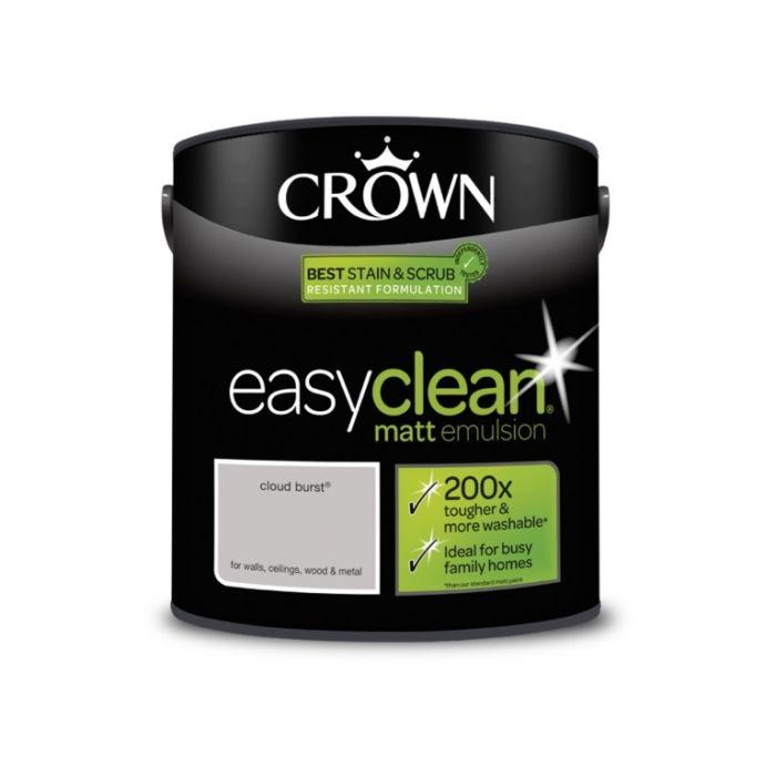 Crown Easyclean Matt Emulsion 2.5L Cloud Burst