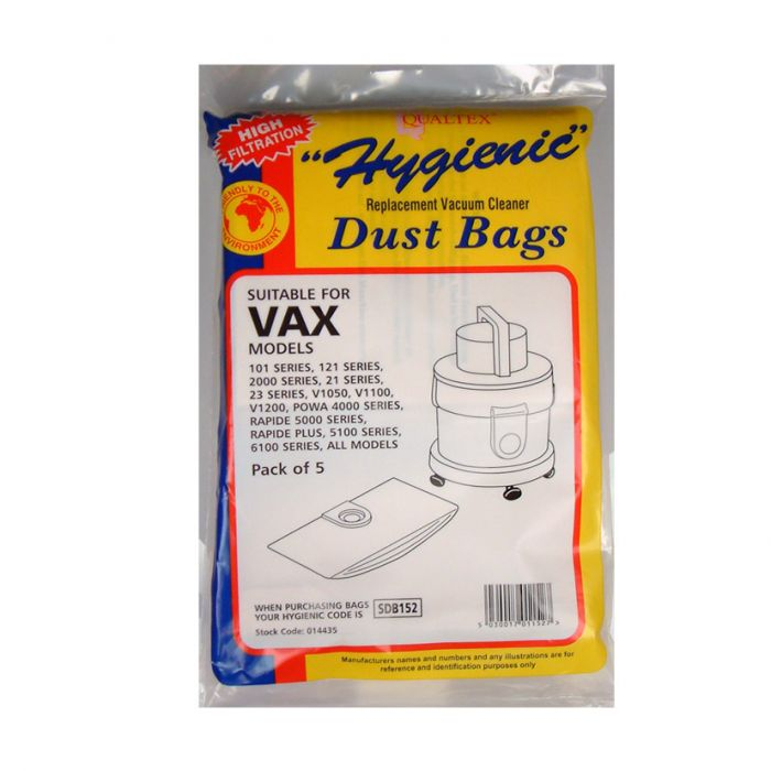 Qualtex Dust Bags suitable for Vax Tub Models