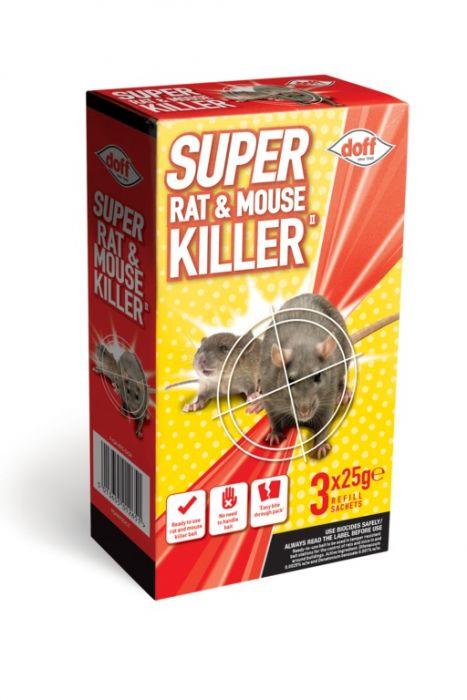 Doff Super Rat & Mouse Killer Refill 3 x 25g