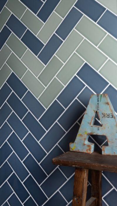 Johnson Tiles Gloss Wall Tiles 200 x 100mm 1m2 Sage Gloss