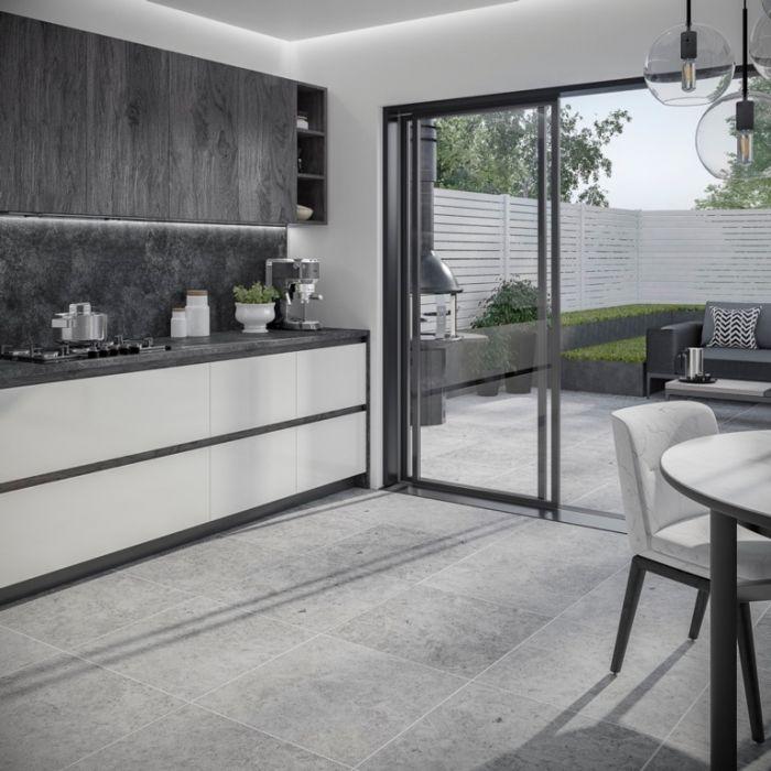 Verona Hampton Silver Outdoor Tile 450 x 900 x 20mm 0.81m2