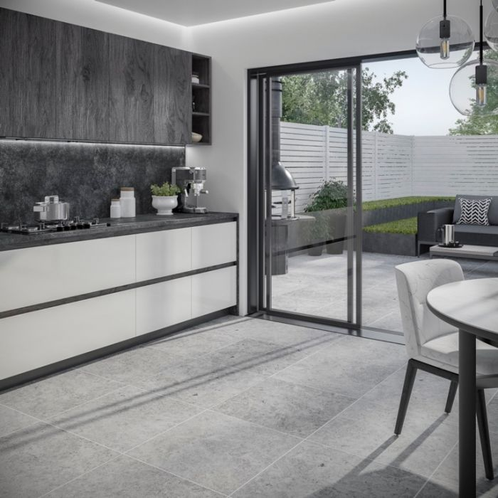Verona Hampton Silver Outdoor Tile 600 x 600 x 20mm 0.72m2