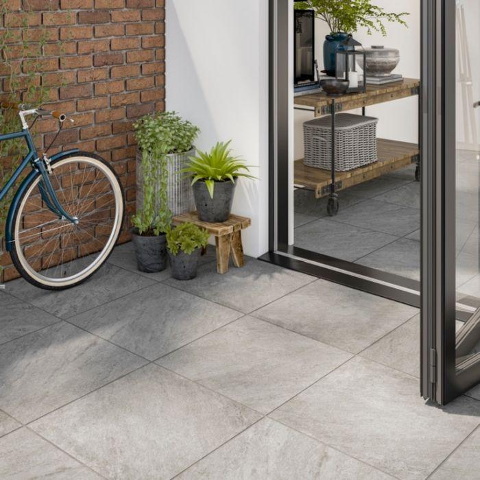Verona Westbury Grey Outdoor Tile 600 x 600 x 20mm 0.72m2