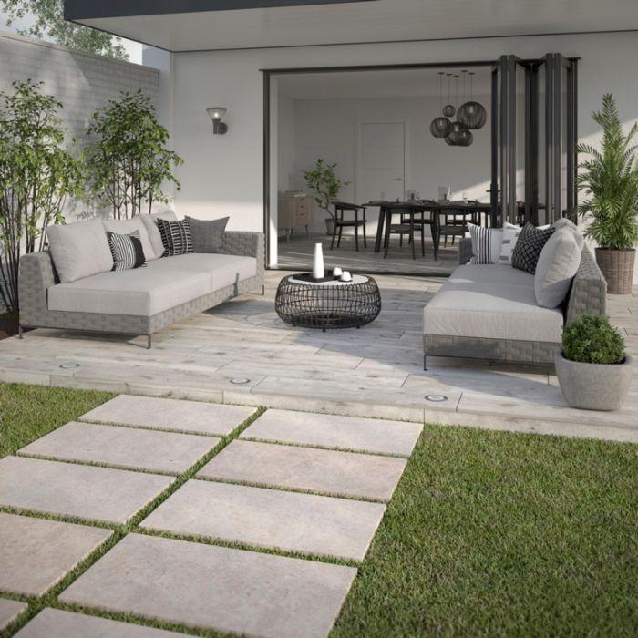 Verona Kenwood Ash Outdoor Tile 300 x 1200 x 20mm 0.72m2