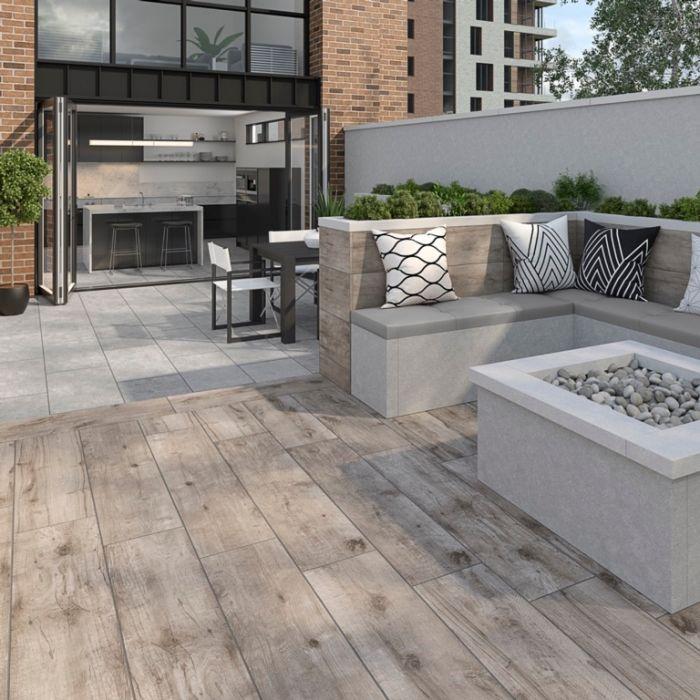 Verona Kenwood Oak Outdoor Tile 300 x 1200mm x 20mm 0.72m2