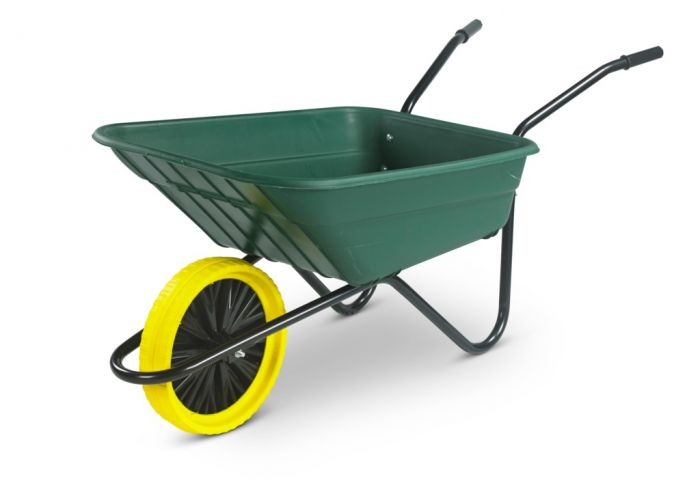 Walsall Wheelbarrow The Shire Green Poly Barrow 90L