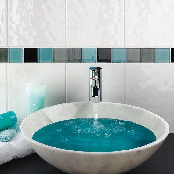 Johnson Tiles Cristal Bumpy White Wall Tile 250 X 200Mm 1M2 Pack