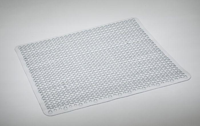 Blue Canyon Grid Shower Mat 53X53 Clear