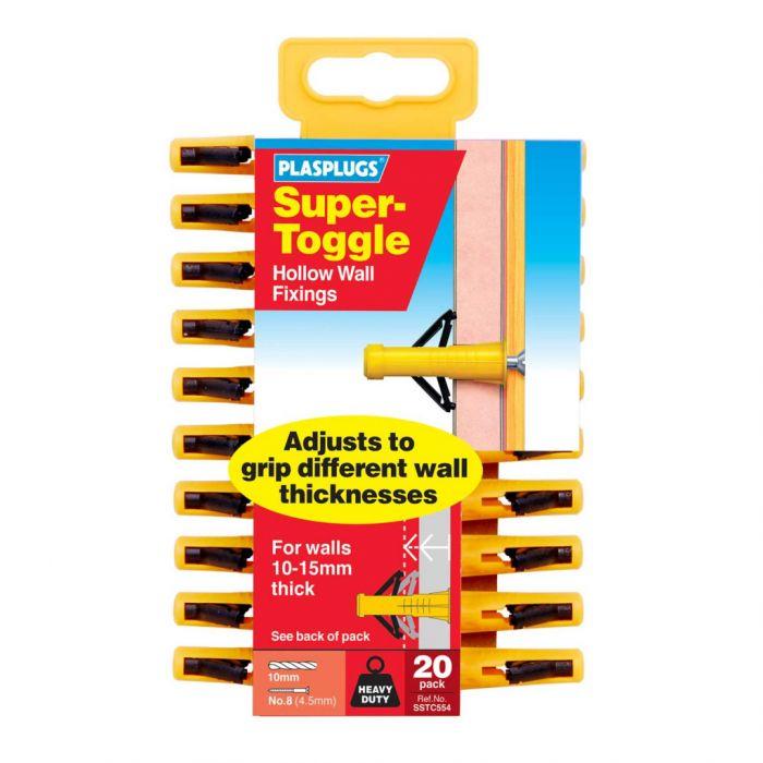 Plasplugs Super Toggle Hd Anchors 20 Pack