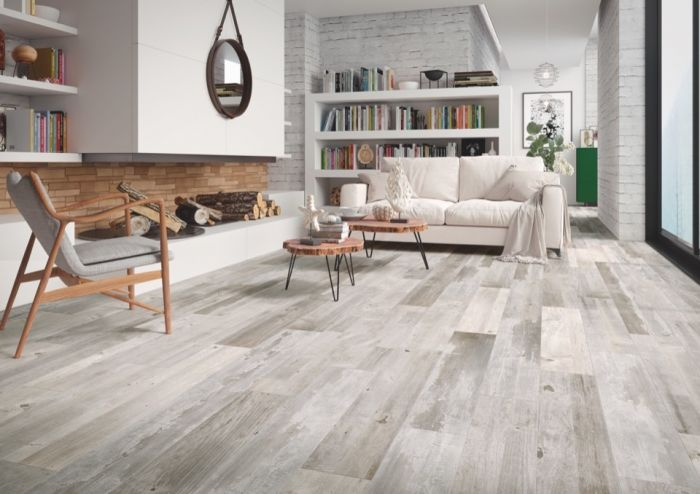 Verona Ashwood Silver Glazed Wall Floor Tile 15 X 90 1.215M2