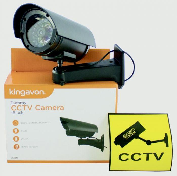 Kingavon Dummy Cctv Camera Black
